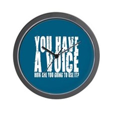 You have a voice Wall Clock