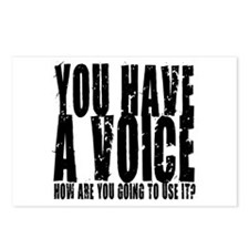 You have a voice Postcards (Package of 8)