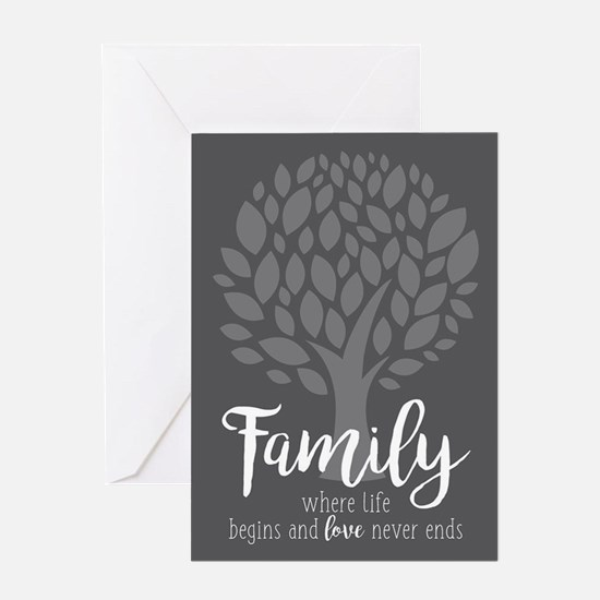 Family Where Life Begins Greeting Card