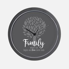Family Where Life Begins Wall Clock