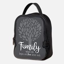 Family Where Life Begins Neoprene Lunch Bag