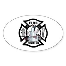 Firefighter Wedding Cake Decal