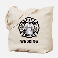 Firefighter Wedding Cake Tote Bag