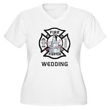 Firefighter Wedding Cake T-Shirt