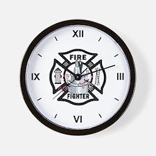 Firefighter Wedding Cake Wall Clock
