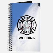 Firefighter Wedding Cake Journal
