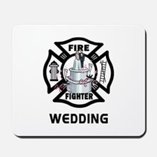 Firefighter Wedding Cake Mousepad