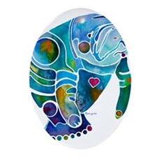 Manatees Oval Ornament