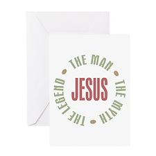 Jesus Man Myth Legend Greeting Card