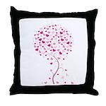Pink Ribbon Tree - Tree of Ho Throw Pillow