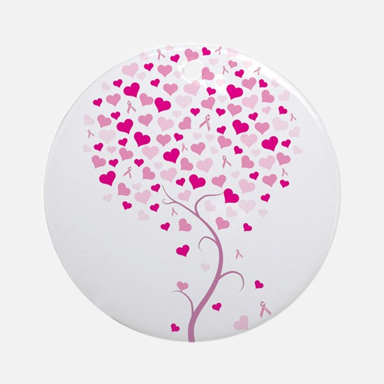 Pink Ribbon Tree - Tree of Ho Ornament (Round)