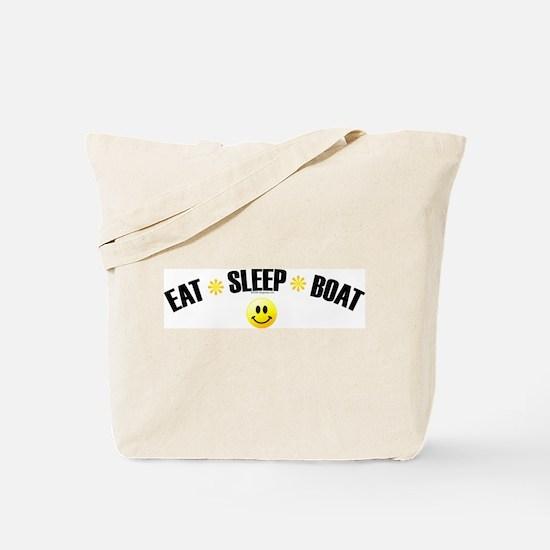 Eat, Sleep, Boat Tote Bag