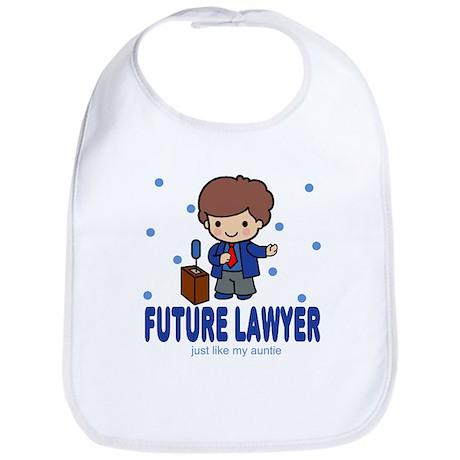 Future Lawyer like Auntie Baby Infant Toddler Bib