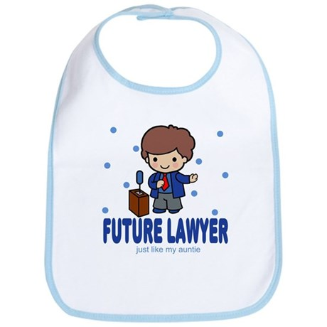 Future Lawyer like Auntie Baby Infant Toddler Bib