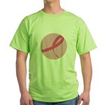 Pink Ribbon Breast Cancer Awa Green T-Shirt