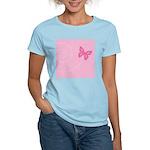Pink Ribbon Butterfly Women's Light T-Shirt