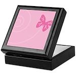 Pink Ribbon Butterfly Keepsake Box