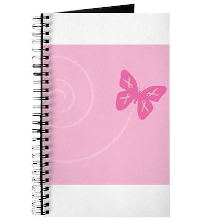 Pink Ribbon Butterfly Journal