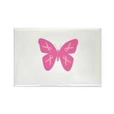 Breast Cancer Awareness Butte Rectangle Magnet
