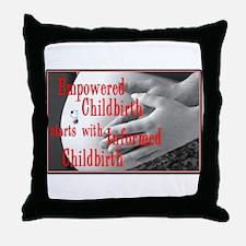 Empowered Childbirth Throw Pillow
