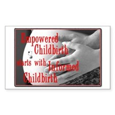 Empowered Childbirth Rectangle Decal