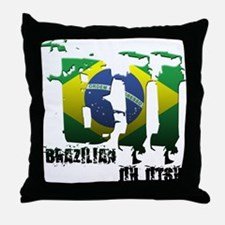 BBJ - Brazilian Jiu Jitsu Throw Pillow