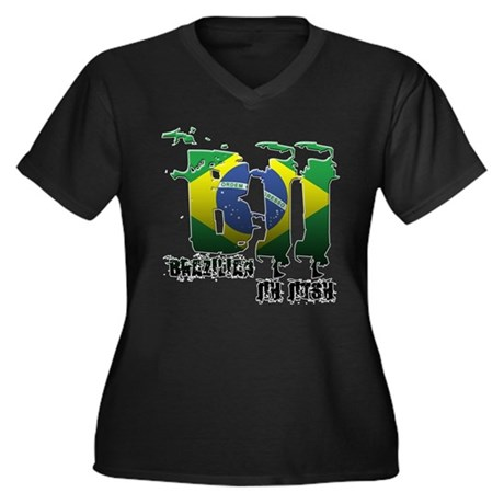 BBJ - Brazilian Jiu Jitsu Women's Plus Size V-Neck