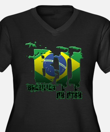 BBJ - Brazilian Jiu Jitsu Women's Plus Size V-Neck