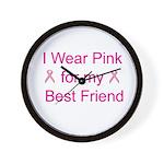 I Wear Pink for my Best Frien Wall Clock