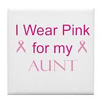 I Wear Pink for my Tile Coaster