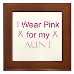 I Wear Pink for my Framed Tile