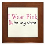 I Wear Pink for my Sister Framed Tile