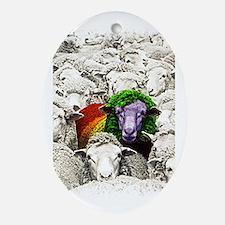 Unique Funny sheep Oval Ornament