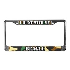 Hunting Beagle License Plate Frame