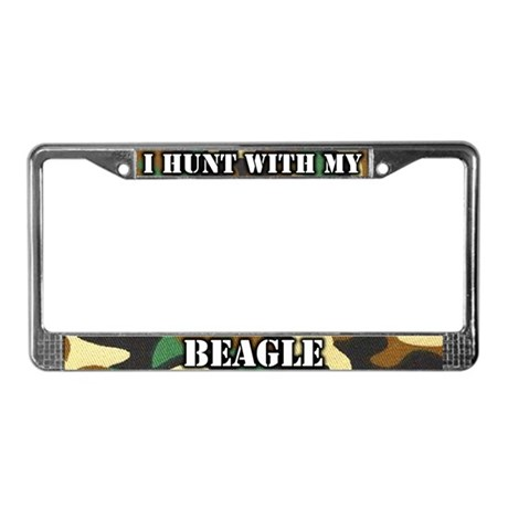 Hunting Beagle License Plate Frame