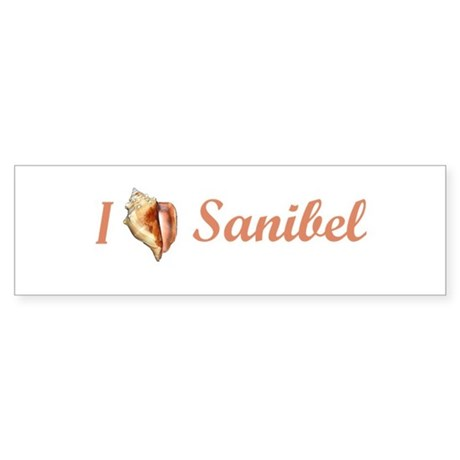 I Heart Sanibel Bumper Sticker