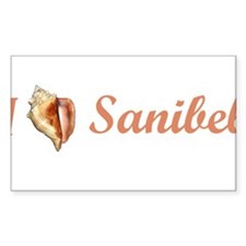 I Heart Sanibel Rectangle Decal