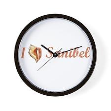 I Heart Sanibel Wall Clock