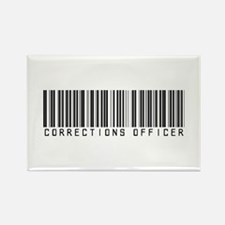 Corrections Officer Barcode Rectangle Magnet