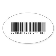 Corrections Officer Barcode Oval Decal