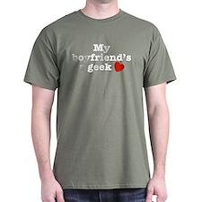 My Boyfriend's a Geek T-Shirt