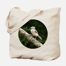 Titmouse Perched Tote Bag