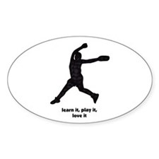 Love Softball Oval Decal