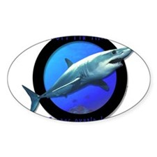 Short Fin Mako Art Oval Decal