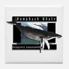 HumpBack Whale Art Tile Coaster