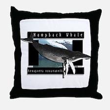 HumpBack Whale Art Throw Pillow