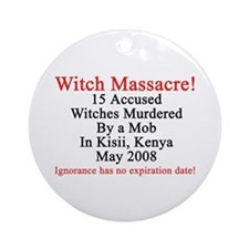 Witches Murdered 2008 Ornament (Round)