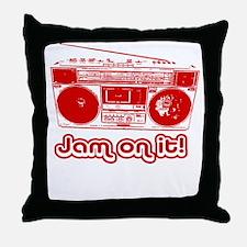 Boombox - Jam on It! Throw Pillow