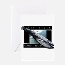 Blue Whale art Greeting Card