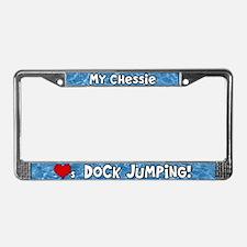 Dock Jumping Chesapeake Retrvr License Plate Frame